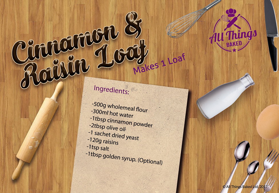 Cinnamon Raisin Loaf Recipe Card