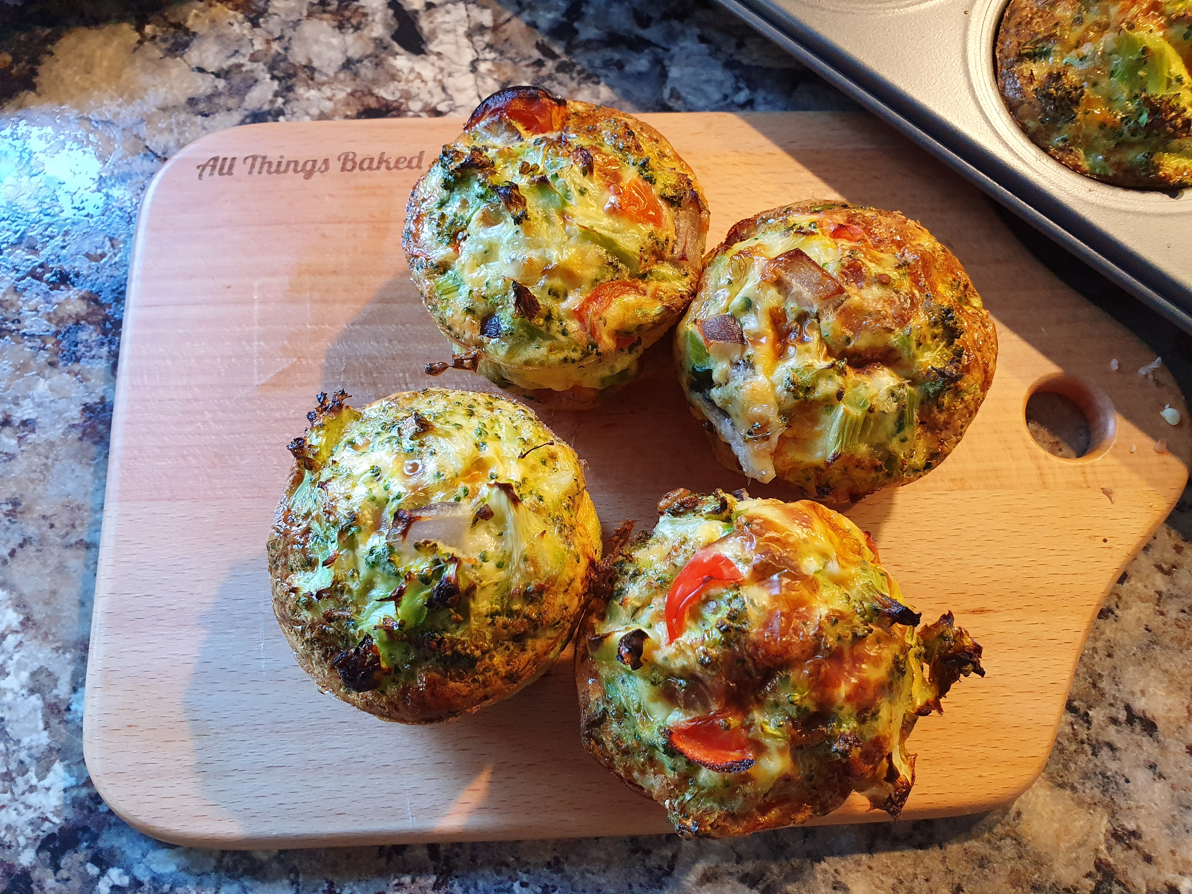 Egg and broccoli muffins baked